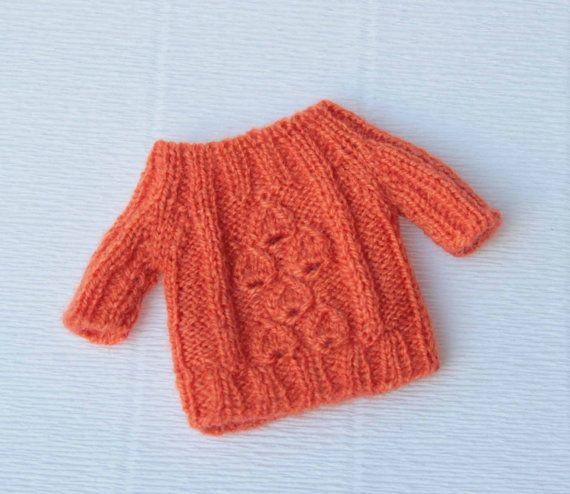 Suéter de punto con manga corta para Blythe, muñeca 1/6 de la escala de la mano de Orange  Más suéteres;