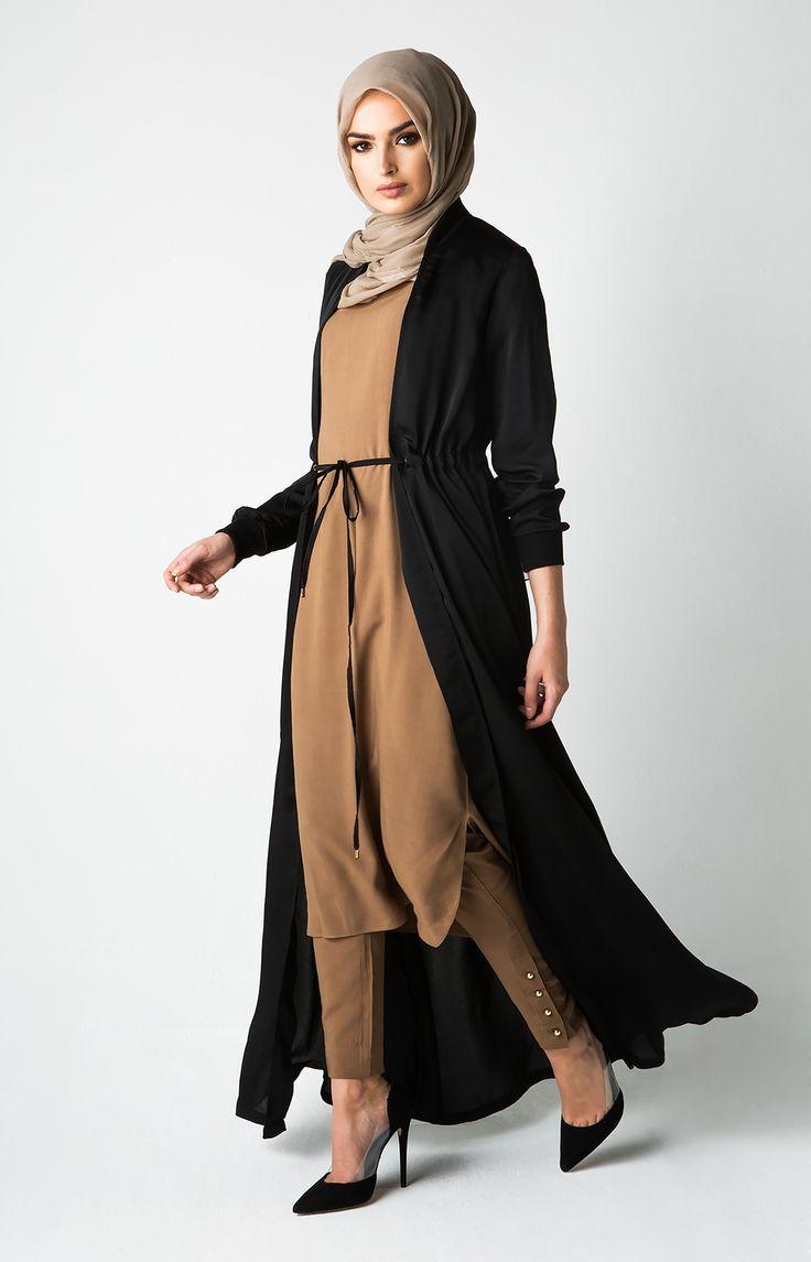 Drawcord Kimono - Black