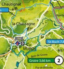 Cartes des parcours VTT FFC Massif du sancy et Besse   BURON DE BESSE