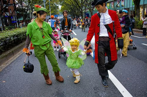 Peter Pan, Captain Hook & Tinkerbell! Adorable!