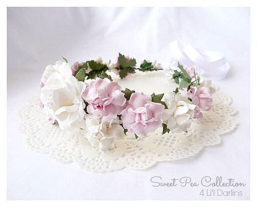 Pink Blossom Floral Crown-floral crown, floral halo, floral crown