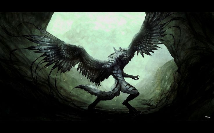 Anime Wolf With Wings