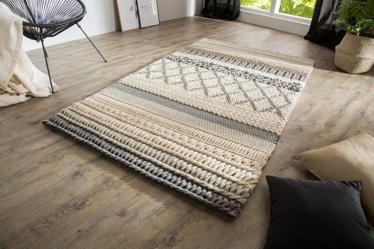 Luxusný koberec z vlny YARN GRAY.