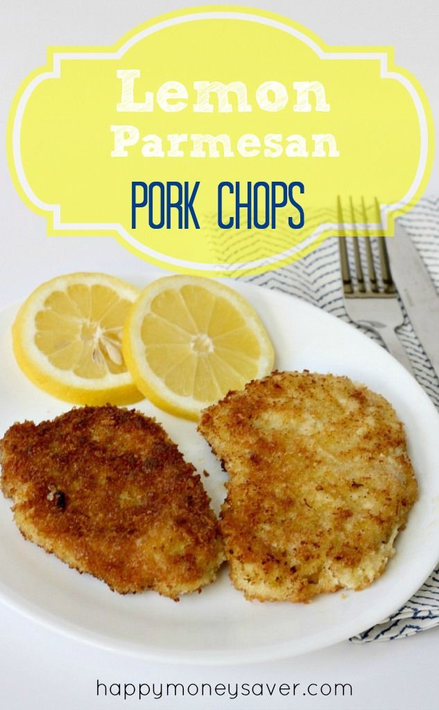 Lemon Parmesan Pork Chops- Best pork chop recipe out there and it feeds a family of 6 for under $10. Delicious and frugal!! -happymoneysaver.com