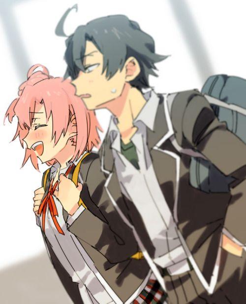 sqidimus:  Yui & Hachiman Credits to ささみとも on Pixiv