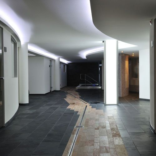 Floor tile / slate / patterned / polished FLOOR : GRAFITE Artesia