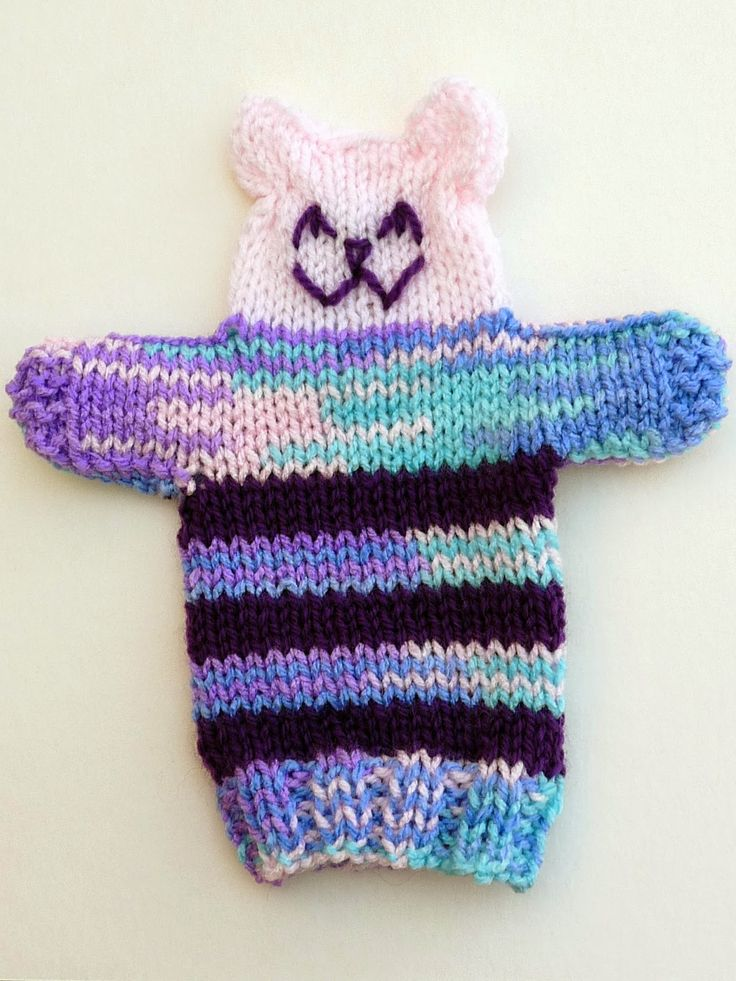 Knitting Patterns Galore Knitted Teddy Hand Puppet