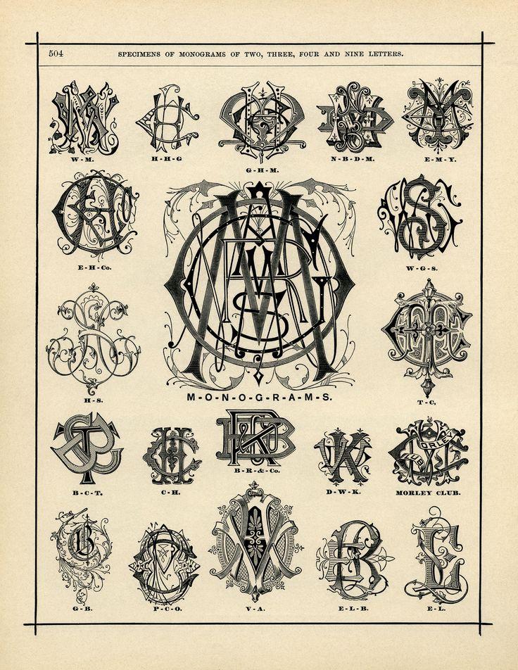 The Old Design Shop: monograms