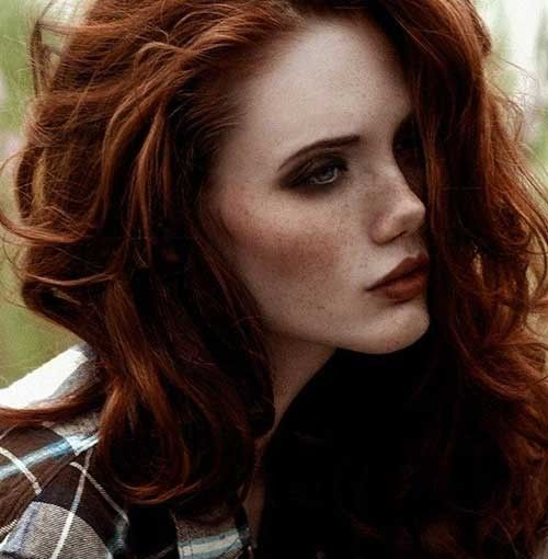 dark auburn hair fair skin - google