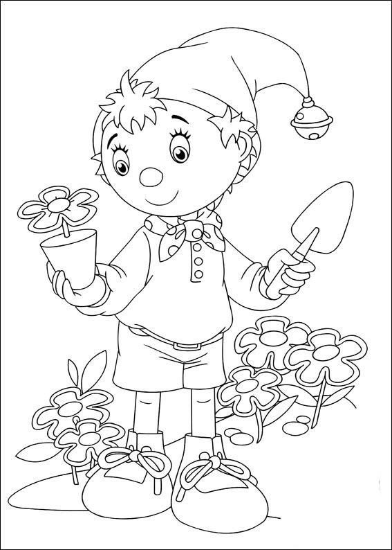 Noddy Coloring Pages 24