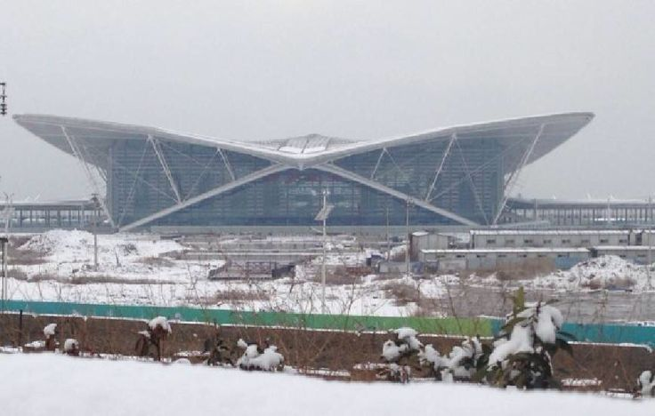 Qingdao north Station under the snow - Arep / MaP3
