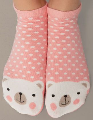 Ankle socks with bear detail - Socks - Accessories - Italia