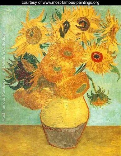 Vase With Twelve Sunflowers II - Vincent Van Gogh - Still ...