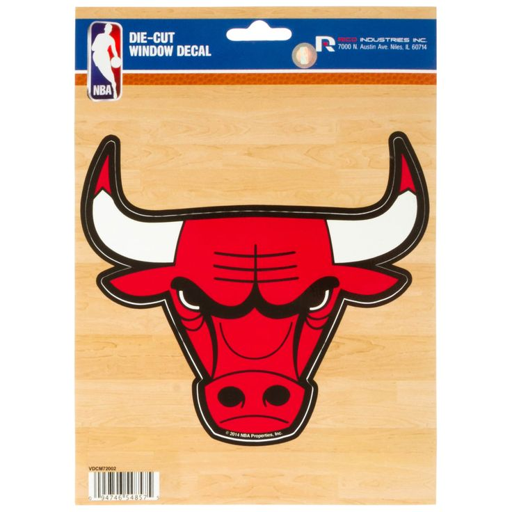 Chicago bulls logo die cut sticker by rico chicago bulls chicagobulls