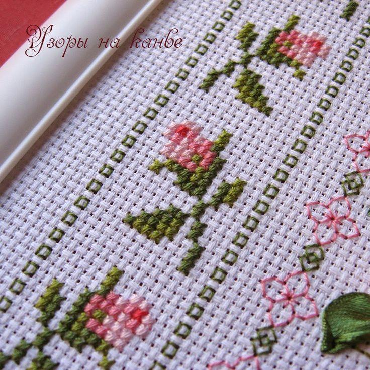 Узоры на канве: Плетистая роза