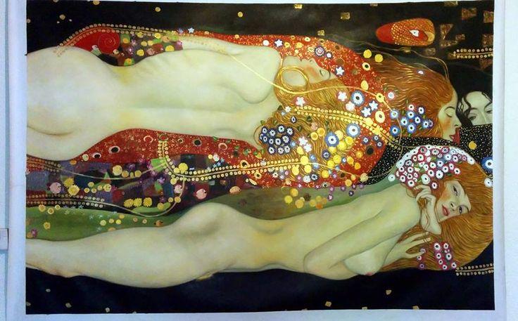 Serpenti d'acqua di Klimt. Copia dell'opera dell'artista. http://www.tuttiquadri.it/klimt/serpenti-acqua.htm