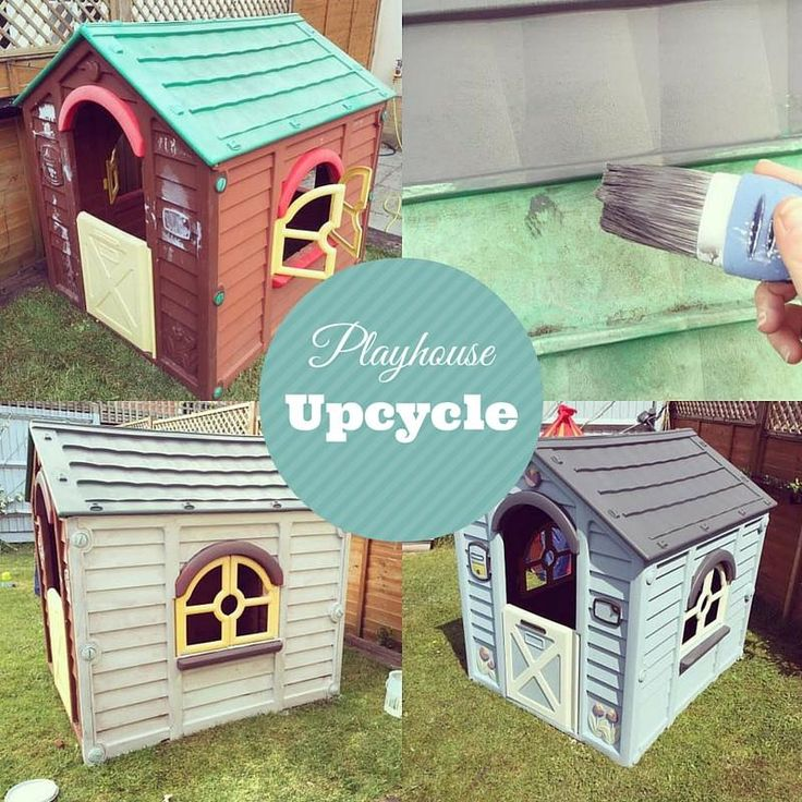 Taking a plastic playhouse from old and sun bleached to a beach hut coastal chic theme using Everlong Paint. This chalk paint is ideal for painting the plastic.