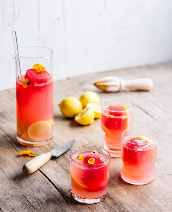 Simple and delicious, this gorgeous cocktail will soar to the top of your to-drink list this summer. Serves 4–6