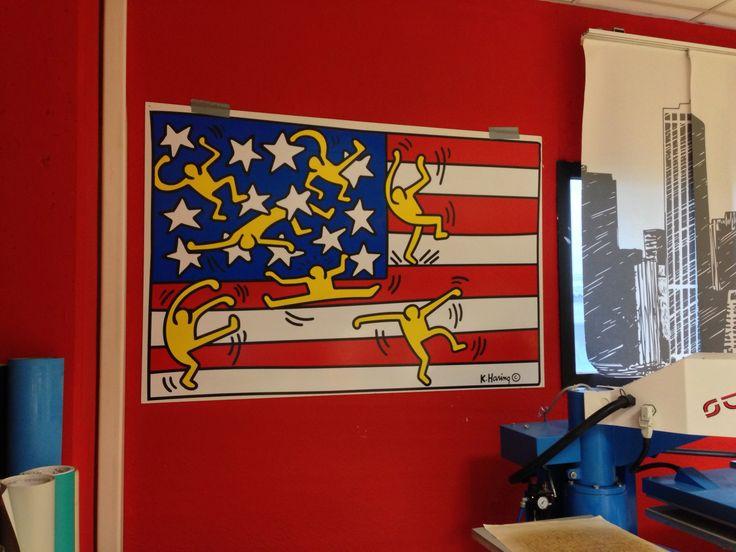 Keith Haring USA Flag