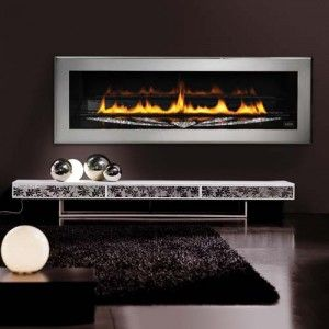 Swarovski™ LHD50SS Limited Edition Linear Fireplace  Complete with a bed of SWAROVSKI ELEMENTS – precision-cut crystals from Swarovski®
