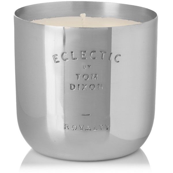 Tom Dixon Royalty scented candle, 260g (5.315 RUB) ❤ liked on Polyvore featuring home, home decor, candles & candleholders, silver, heart vessels, tom dixon candles, fragrance candles, scented candles and tom dixon