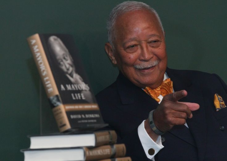 Former New York City Mayor David Dinkins celebrated his 89th birthday at a party at Ellen's Stardust Diner in Times Square.