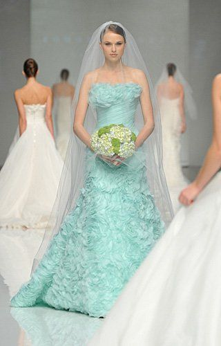 20 best blue green wedding theme images on pinterest for Mint and gold wedding dress