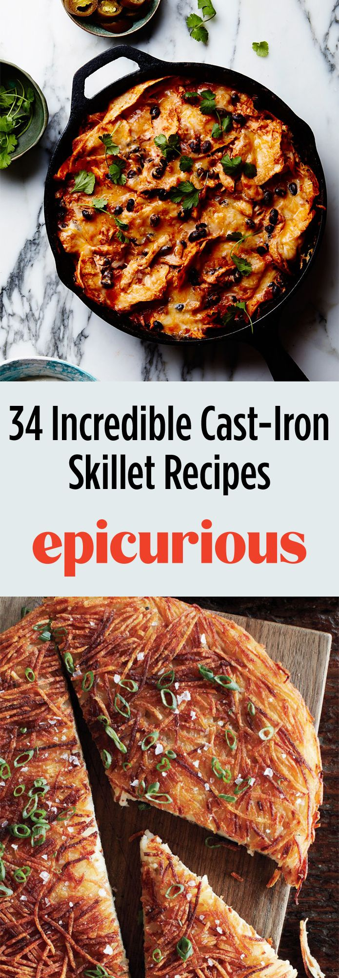 301 best dinner ideas images on pinterest apartments ballerinas 34 incredible cast iron skillet recipes epicurious forumfinder Gallery