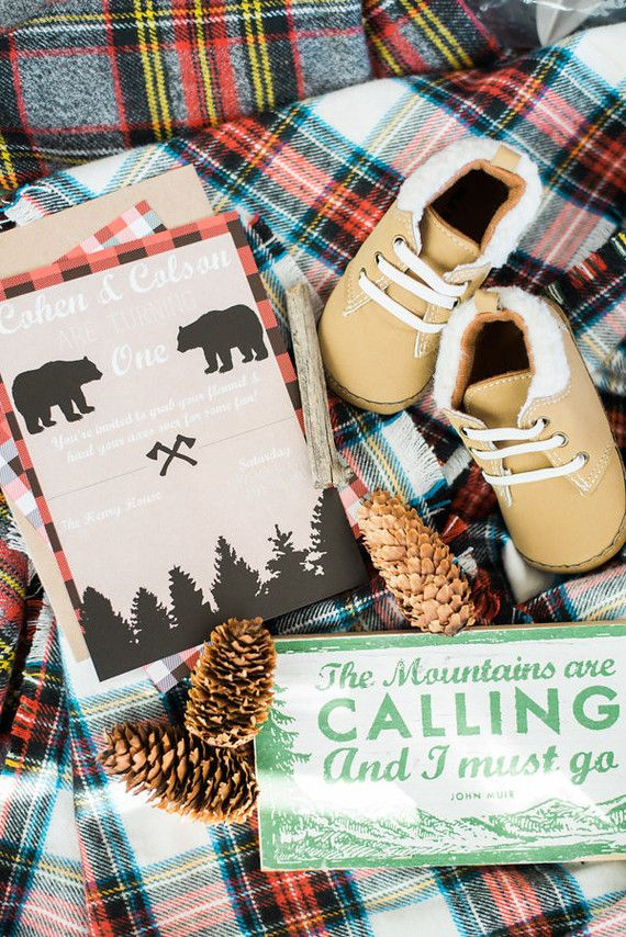 """The mountains are calling and I must go!"" Yes! John Muir quotes are perfect for Little Man's party!"