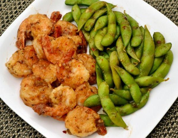 General Tso's Shrimp & Edamae