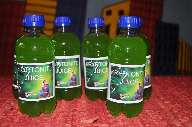Kryptonite juice for the Superman party