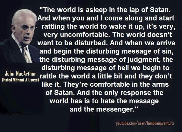 John MacArthur (All your pastor wanted to do was teach you from the Bible and see you come to saving faith in Jesus Christ.)