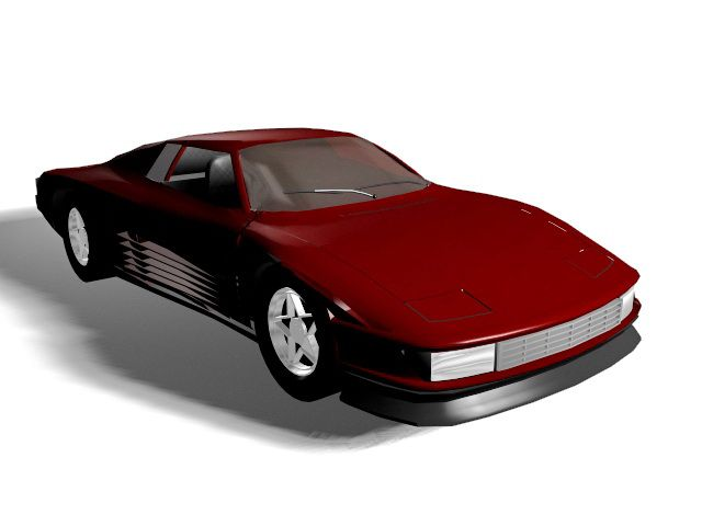Roadster Red Car 3d Model 3ds Max Files Free Download Modeling 35153 On Cadnav Car 3d Model Red Car Car