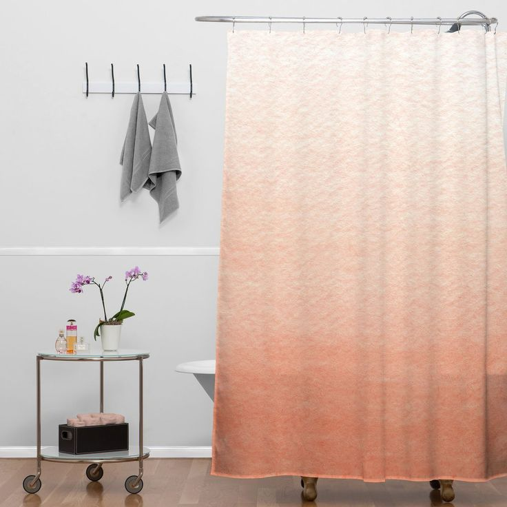Social Proper Peach Ombre Shower Curtain Part 75