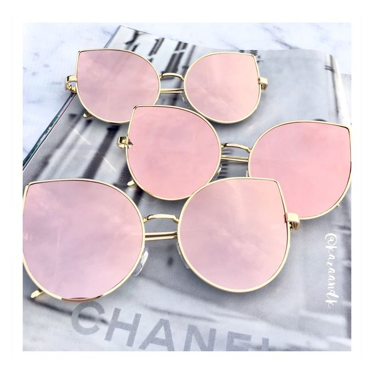 Rose Gold Mirrored Sunglasses