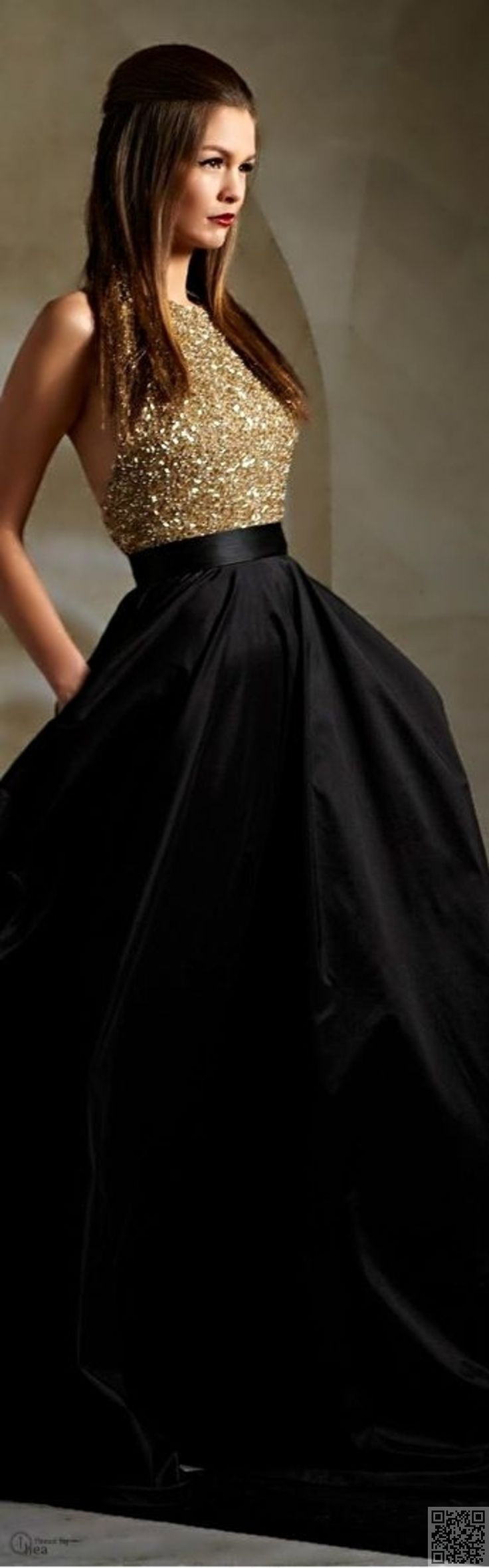 11. With a Long #Skirt - 21 Jaw Dropping #Holiday Dresses You'll Love ... → #Fashion #Backless