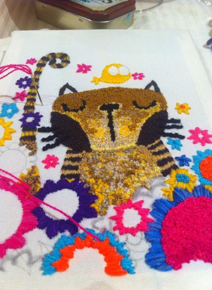 Cuadro bordado a mano #Embroidery