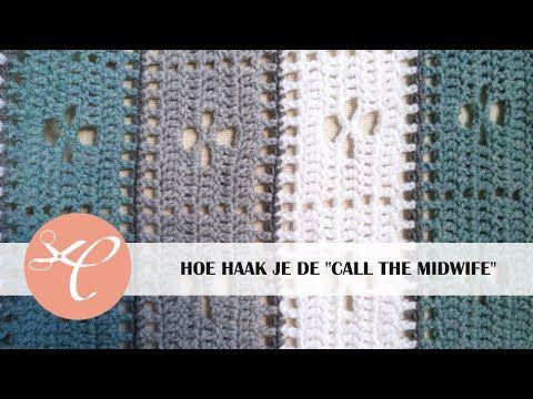 """Ik leg hier in dit filmpje uit hoe je het """"call the midwife"""" patroon moet haken. Dit patroon heb ik gebruikt om een deken te haken, the call the midwife blan..."""