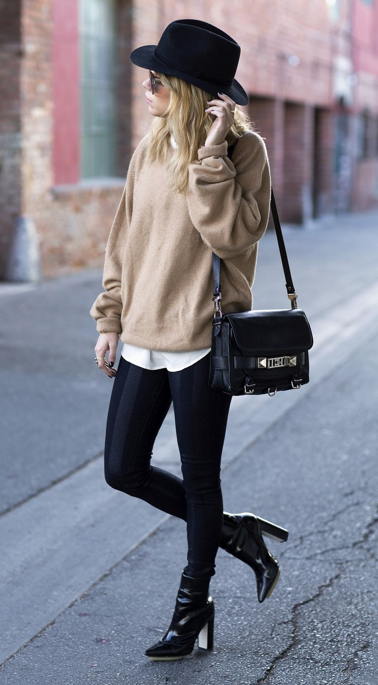 Luxe camel and black