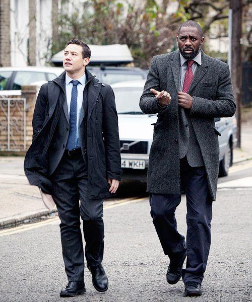 Idris Elba in Luther and Warren Brown