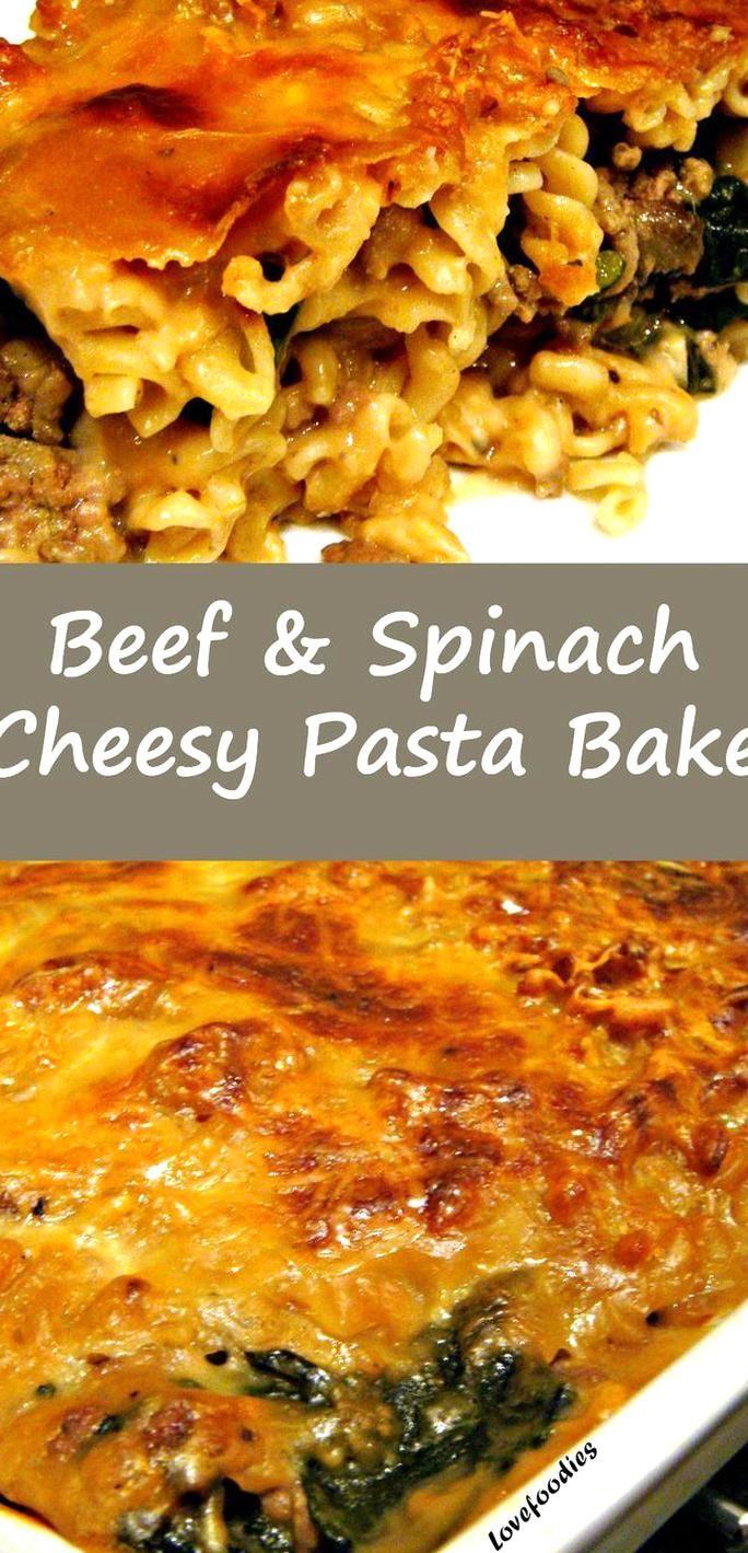 Ground Beef Spinach Pasta Bake Easy To Make And Very Tasty Beef Spinach Pasta Bake Dinner In 2020 Spinach Pasta Bake Ground Beef And Spinach Pasta Bake