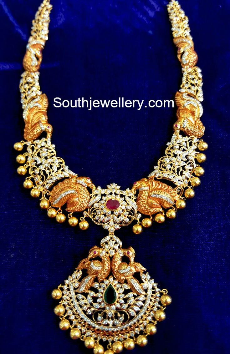Beautiful 22 carat gold chains with matching pendant designs latest - Jewellery Designs Page 7 Of 949 Latest Indian Jewellery Designs 2017 22 Carat Gold Jewellery