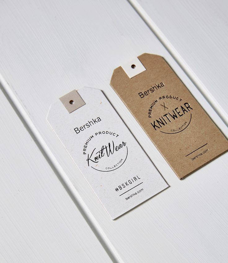 Full labelling design process for the Bershka hang tags.