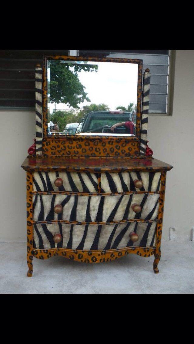 Whimsical+Zebra+Leopard+Artist+done+by+ChicNotShabbyCottage,+$1,500.00