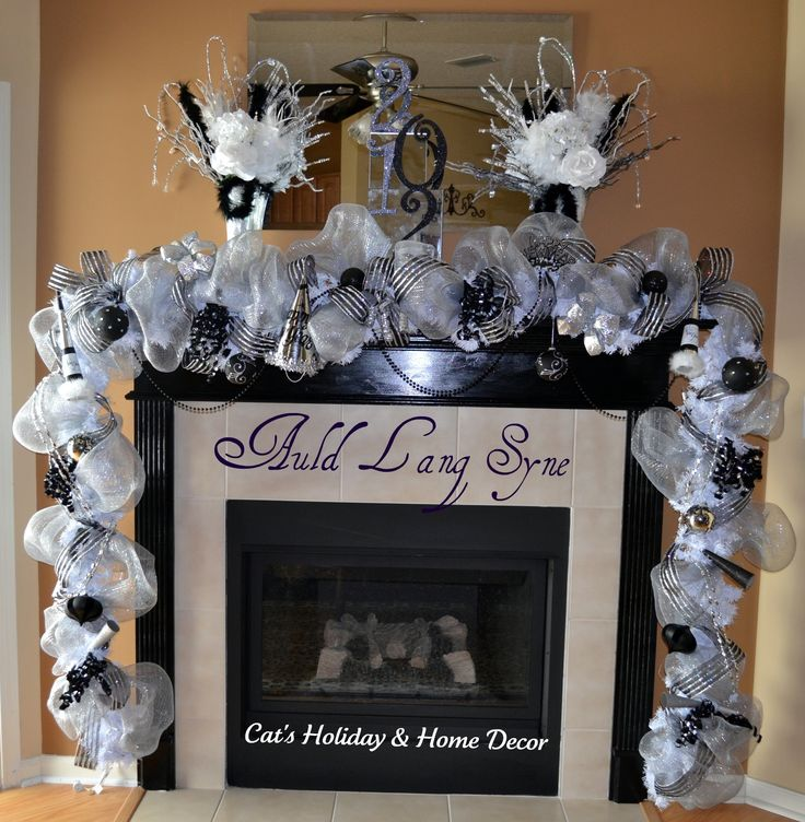 New YearsDecor Ideas, Years Eve, Mantel Decor, Years Decor, Years Mantles, Eve Parties, Cat Holiday, Parties Ideas, New Years