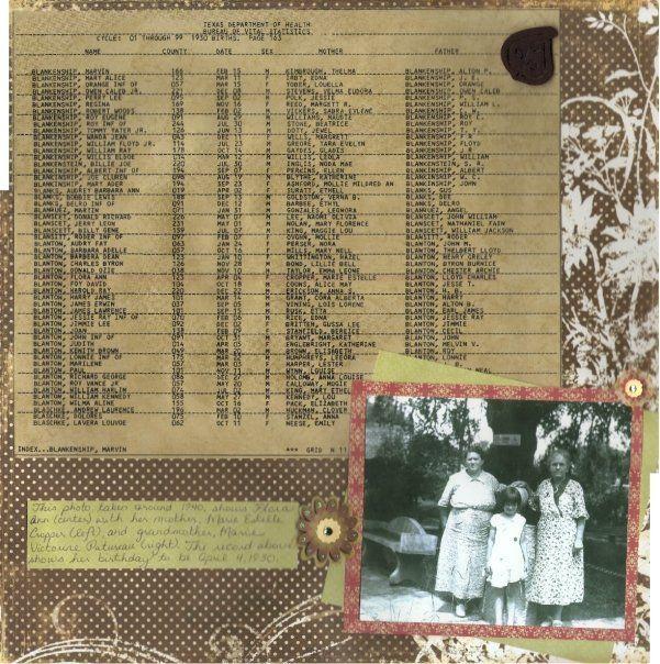heritage photo album ideas - Heritage Album Scrapbook Page Ideas