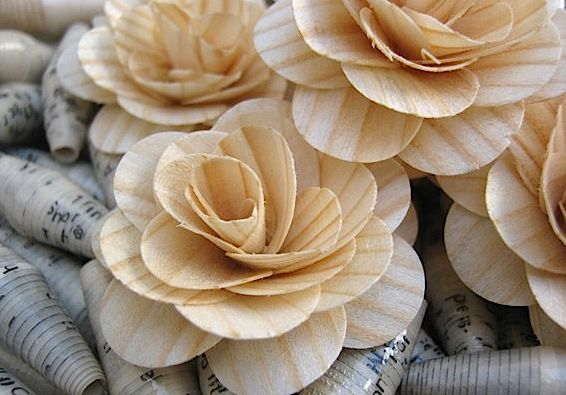 Wooden roses