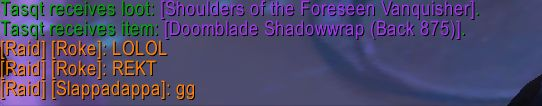 Weird bug someone in my guild got the Tier cloak from opening the Tier shoulders #worldofwarcraft #blizzard #Hearthstone #wow #Warcraft #BlizzardCS #gaming