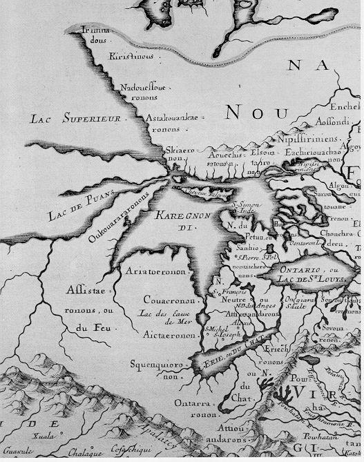Clip-Sanson-map- 1656-Jesuits - Protohistory of West Virginia - Wikipedia, the free encyclopedia