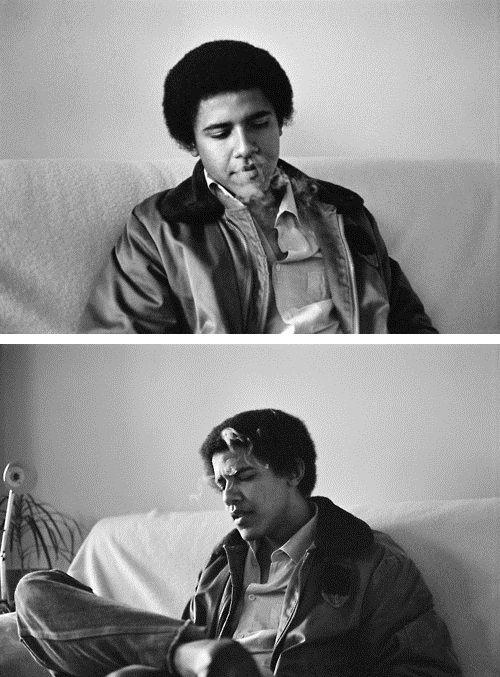 Obama smoking weed
